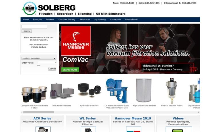 Solberg Manufacturing, Inc.
