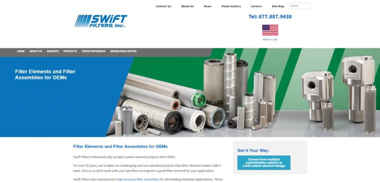 Swift Filters, Inc.